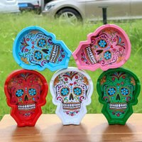 85mm Ghost Head ashtray colorful optional household ashtrays for smoking