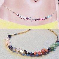 Belts 2021 Swimwear Beach Waist Chain Ladies Sexy Natural Stone Glass Rice Beads Body Jewelry Factory Direct Sales Wholesale