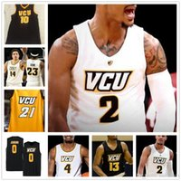 농구 VCU 23 Issac Vann 11 Keshawn Curry 4 Corey Douglas Santos-Silva 2 Marcus Evans Colleges Stitched Jersey