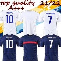 2021 22 Top Men Soccer Jersey Grizmann Mbappe Kante 20 21 Pogba Shirt Mailleot de Football فرنسا Zidane Giroud Kimpembe Pavard Benzema Le