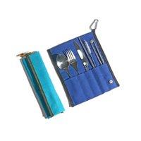 Хлопок Hot Canvas Tableware Storage Bag Нож Вилка Ложка Упаковка Сумки на открытом воздухе Пикник Портативные Бумажные приборы Мешок 7 Цветов Прочный HWB10101