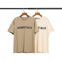 디자이너 폴로 셔츠 Essentials 더블 라인 가슴 편지 트렌드 느슨한 안개 높은 거리 반팔 커플 티셔츠