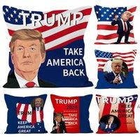Trump 2024 Dekokissen Fall US-Flagge Unabhängigkeitstag Geschenke Party Home Sofa Auto Kissenbezug GWA9191