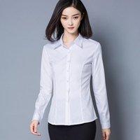 Kadın Bluzlar Gömlek Biboyamall Kadın 2021 Artı Boyutu Kadınlar OL Ofis Bluz Şifon Gömlek Uzun Kollu Bayanlar Blusas Tops