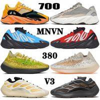 أحذية yeezy boost MNVN 700 v3 380 kanye west yezzy yeezys Azareth Runner Azael Alvah Alien Mist Carbon Blue Vanta الاحذية الرياضية للرجال والنساء