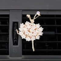 Car Air Freshener Aroma Diffuser Auto Decors Vent Perfume Diamond Ballet Girl Outlet Solid Fragrance