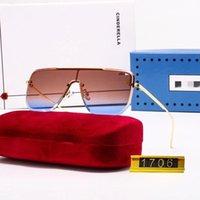2021 High Качество Мода Классические Солнцезащитные Очки Отношение Солнцезащитные Очки Золотая Рамка Квадратная Металла Рамка Винтаж Стиль наружный Классический в коробке