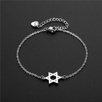 Charm Bracelets Fashion Stainless Steel Chain Bracelet For Women Star Pendant Bangles Party Jewelry Accessories Gifts