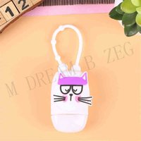 Party Favor 30ml Sanitizer Keychain Silcione Cartoon Mini Cover Gel Hand Soap Holder With Refillable Travel Bottle 0WY6