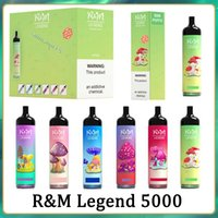 RM-Legende Einweg-E-Zigaretten-Cartoon-Design-Kit 5000Puffs Vape-Stift 12ml-vorgefüllte Pods 950mAh-Batterie Randm-Dämpfe R und M