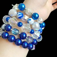 Charm Bracelets Handmade Greek Sorority Zeta Phi Beta 1920 Pigeon Lucky Clover Transparent AB Color Acrylic Baroque Peael Bracelet Jewelry