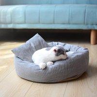 Cat Beds & Furniture Pet Bed Kennel Round Winter Warm House Sleeping Bag Super Soft Puppy Cushion Mat Supplies