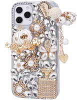 Girls Women 3D Luxury Cell Phone Cases Sparkle Glitter Diamond Crystal Rhinestone Pumpkin Car Charm Pendant Protective Cover for Iphone 12 13 Mini 11 Pro Max Xr X 8 7