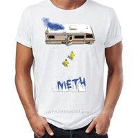 Hombres de marca T Shirts 100% algodón Akira Estilo Breaking Bad Walter y Jessie Caminando hacia la camiseta de camioneta O-Cuello 210420