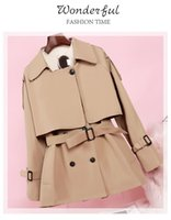 Spring And Autumn Windbreaker Women's Mid-length Small Man With A Petite High British Style Coat Jackets