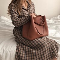 2021 new women's in Korean style big mother simple portable shoulder bag