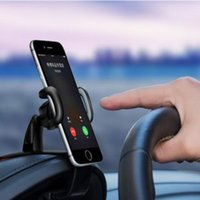 Hooks & Rails Bracket Rotatable For Mobile Phone Car Dashboard Mount Holder Stand Clip On Cradle Universal Cell GPS Support