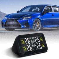 Car Solar Power Tire Pressure Monitoring System Smart LCD Display TPMS Sensor Real-time Monitor Alarm Tire Pressure Temperature