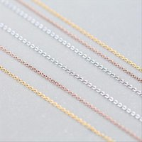 Chaînes A00321 100% Véritable 925 Sterling Sterling Bijoux Collier Lingot Twist Twist Câble Câble Rolo Pendentif pour femmes