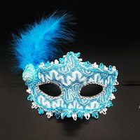 Colorful Halloween Feather Eye Mask Women Girls Princess Sexy Masquerade Masks Dance Birthday Party Carnival Props Christmas OWE8475