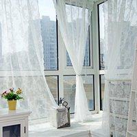 Perde Perdeler Modern Şeffaf Vual Baskı Perdeleri Tasarım Woove Örgü Kumaş Beyaz Renk Sırf Pencere Oturdu Için