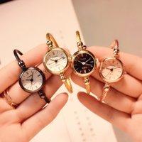 Designer luxury brand watches ry Fashion Gold Bangle Bracelet Women es Stainless Steel Retro Ladies Quartz Wristes Ulzzang Small Clock