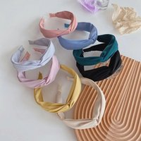 Solid Color Headband Top Knot Hair Hoop For Women Twisted Cross Hairbands Head Hoop Hair Accessories Headdress
