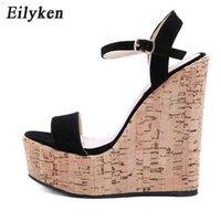 Eilyken Mode Damen High Heels Knöchel Schnalle Strap Keilplattform Sandale Sommer Sexy Peep Toe Schuhe 210619 2U237ZUU