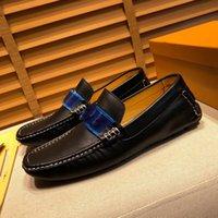 Ein 38 Modell neuer hochwertiger weiche Kuh-Leder Herrenschuhe Mann Brown Business-Kleid Schuhe Klassische Runde TOE MOCKASINS ZAPATOS HOMBRE