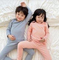 Clothing Sets 2021 Korea Style Girls 2 Pcs Set Striped T Shirt+long Pants Autumn Cotton Kids Pajama Suit 1-7 Years WU812