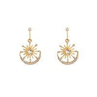 Earrings jewelry dangles stud Fashion Multiple design Styles can be mixed bought S925 Sterling Silver Needle Unique Matte Gold Big Circle star Same Style high grade
