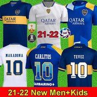 2021 2022 Boca Juniors Soccer Jersey Home Away Gago Osvaldo Carlitos Perez de Rossi Tevez Pavon JRS الرجال + أطفال كرة القدم قميص