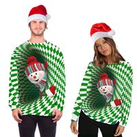 Ugly Christmas Sweater Sweatshirt Pullover Holiday Sweaters Jumpers Tops 3D Funny Cat Print Xmas Clothing Couple Christmass Sweatshirts