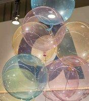 18 Inç Şeffaf Temizle Balonlar Butik Yuvarlak 6 Renkler Balon Bobo Topu Noel Doğum Günü Partisi Düğün Süslemeleri Süsler Çocuk Oyuncak A41002