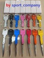 7 colori forma chiave mini coltello pieghevole da esterno sabre tasca frutta coltello multifunzione portachiavi multifunzione coltelli svizzero autodifesa coltello strumento di emergenza all'aperto strumento di emergenza EDC