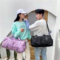 Мода Фитнес Путешествующая сумка Женщины Водонепроницаемые Спортивные Сумки Сумки на плечо Большая Емкость Мужчины Работают Сумки Crossbody Duffel