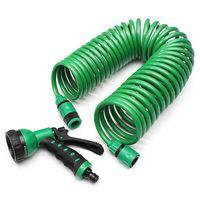 30M Garden Watering Equipment Kit EVA Spring Tube Curly Expandable Water Hose Pipe Spray Gun Car Washer Flower Lawn