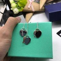 Серебряная цепь ожерелье с покрытием винта ювелирных изделий влюбленности ключицы цепь с розовым золотом платиновая женщина любовь подарок NRJ