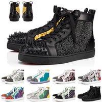 Kırmızı Dipleri Boyutu ABD 13 Yüksek Kaliteli Koşu Ayakkabıları Tasarımcı Junior Spike Erkek Bayan Elbise Çiftler Loafer'lar Alt Lüks Açık Sneakers EUR 35-47