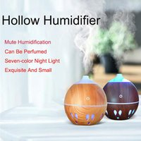 Fragrance Lamps 130ML USB Aroma Diffuser Ultrasonic Cool Mist Humidifier Air Purifier 7 Color Change LED Night Light For Office Home CD