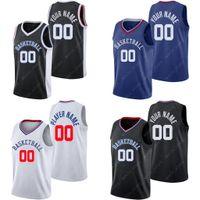 남자 맞춤형 LAC 농구 유니폼 자신의 저지 스포츠 셔츠를 만드는 팀 이름과 숫자 스티치 01