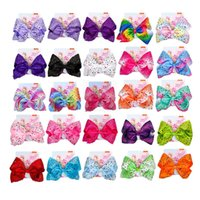"""Diamond JOJO SIWA 8"""" large Grosgrain Ribbon Bow With Clips For Kids Hairpins Handmade Bowknot Children Hair Accessories"""