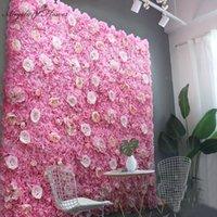 Dekoratif Çiçekler Çelenkler 40 * 60 cm Yapay Çiçek Duvar Paneli Dekor Backdrop Düğün Parti Olay Doğum Günü Sahnesi Düzeni DIY Ipek Dahlia R