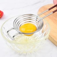 Separatore d'uovo in acciaio inox Yolk Divisore divisorio uova bianche Strumento di separazione Bianco Gadget e accessori LLA5360 LLA5360