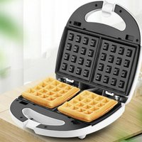 Baking Moulds 700W Electric Waffles Maker Breads Making Machine 110V Non-Stick Fried Eggs Barbecue Panini US Plug