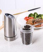 الجاذبية الكهربائية الملح الفلفل مطحنة المنزلية المقاوم للصدأ التشغيل التلقائي طاحونة للتعديل الملح الفلفل ميلز المطبخ أداة DWE5607