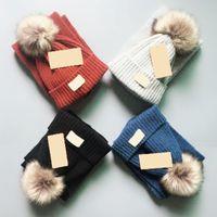 Designer di alta qualità Baby Boys Girls Caps 1-10 anni Cappello per bambini + Set di sciarpa Set di 2