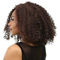 Parrucca africana Parrucca europea e americana parrucca corta capelli ricci per le donne parrucca afro parrucche sintetiche fabbrica in stock