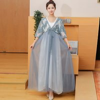 Asien-Pazifik-Inseln Frauen Ethnische Kleidung Pleuche 3/4 Ärmel Kimono Yukata-Stil Koreanische Mode langes Kleid Elegantes modernes Hanbok-Kostüm