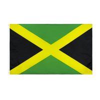 Jamaika Nationalflagge für Dekoration Retail Direkte Fabrik Großhandel 3x5FTs 90x150cm Polyester Banner Indoor Outdoor Usedage GWB6549